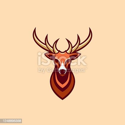 Vector Illustration Future Deer Simple Mascot Style.