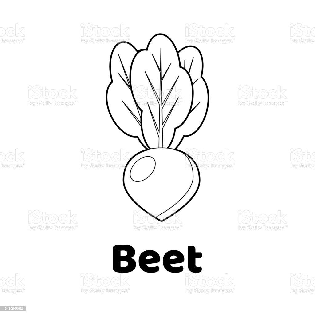 Vektorillustration Spiel Für Kinder Gemüse Malvorlagen Stock Vektor ...