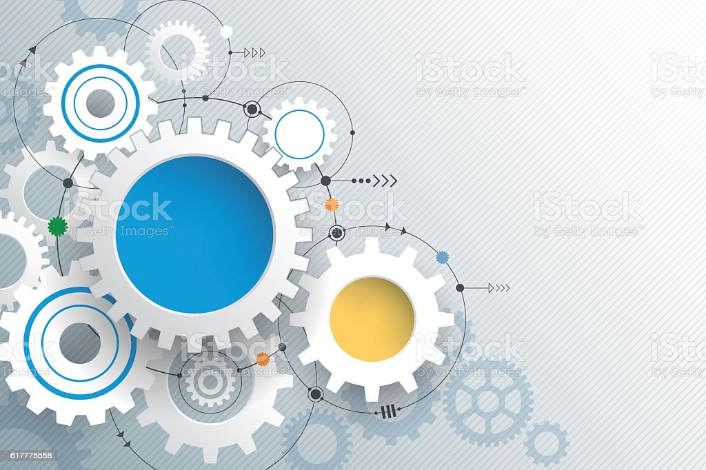 Vector illustration gear wheel, Abstract hi-tech technology background vector art illustration