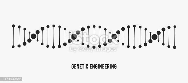 DNA vector illustration. Genetic engineering concept