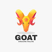 istock Vector Illustration Goat Gradient Colorful Style. 1267626589