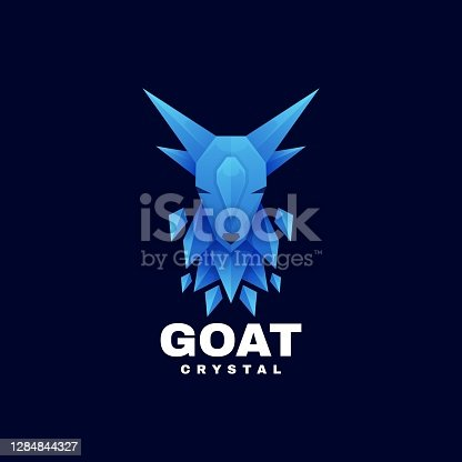 istock Vector Illustration Goat Gradient Colorful Style. 1284844327