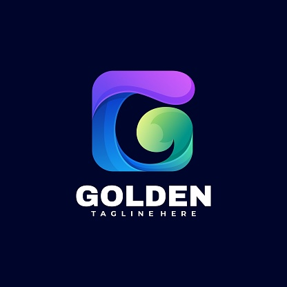 Vector Illustration Golden Gradient Colorful Style.