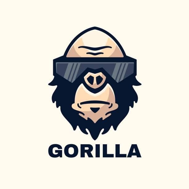 Vector Illustration Gorilla Simple Mascot Style. Vector Illustration Gorilla Simple Mascot Style. gorilla stock illustrations
