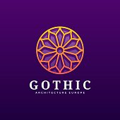 Vector Illustration Gothic Gradient Colorful Style.