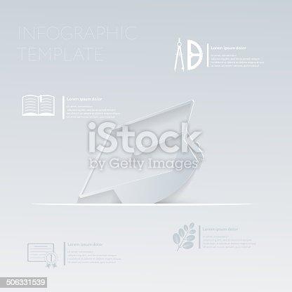 Vektorillustration Absolvent Hat Grafik Oder Websitelayoutvorlage ...
