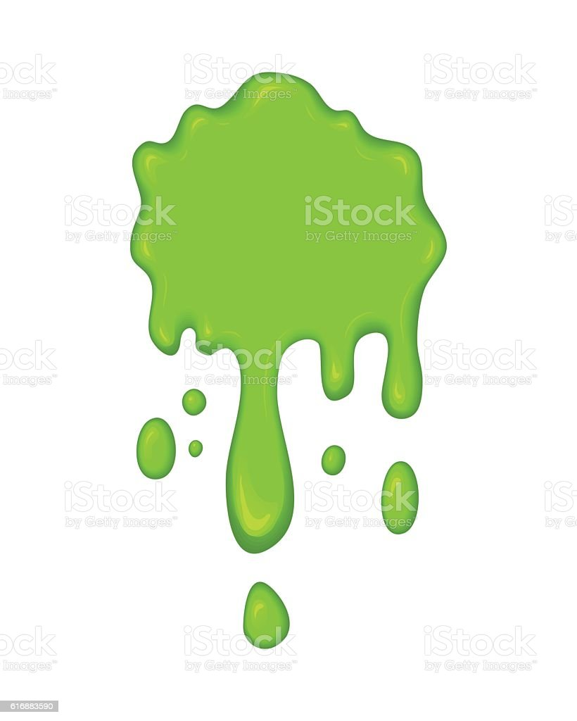 Vector illustration - green slime drips. vector art illustration