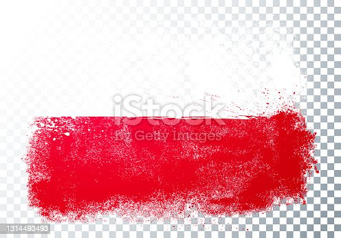 istock Vector Illustration Grunge And Distressed Flag Of Poland 1314493493
