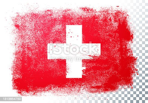 istock Vector Illustration Grunge And Distressed Flag Of Switzerland 1313854750