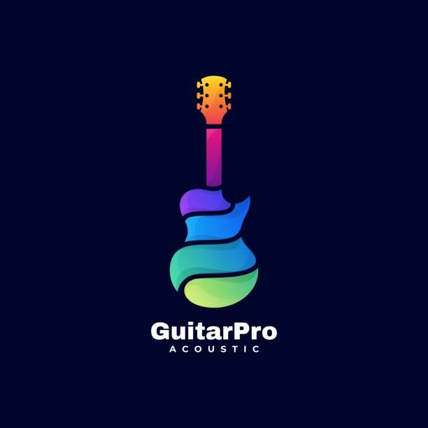 bildbanksillustrationer, clip art samt tecknat material och ikoner med vektor illustration gitarr pro toning färgglada stil. - komposition