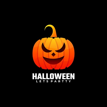 Vector Illustration Halloween Gradient Colorful Style.