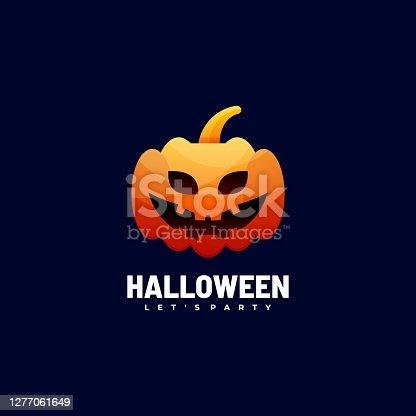 istock Vector Illustration Halloween Gradient Colorful Style. 1277061649