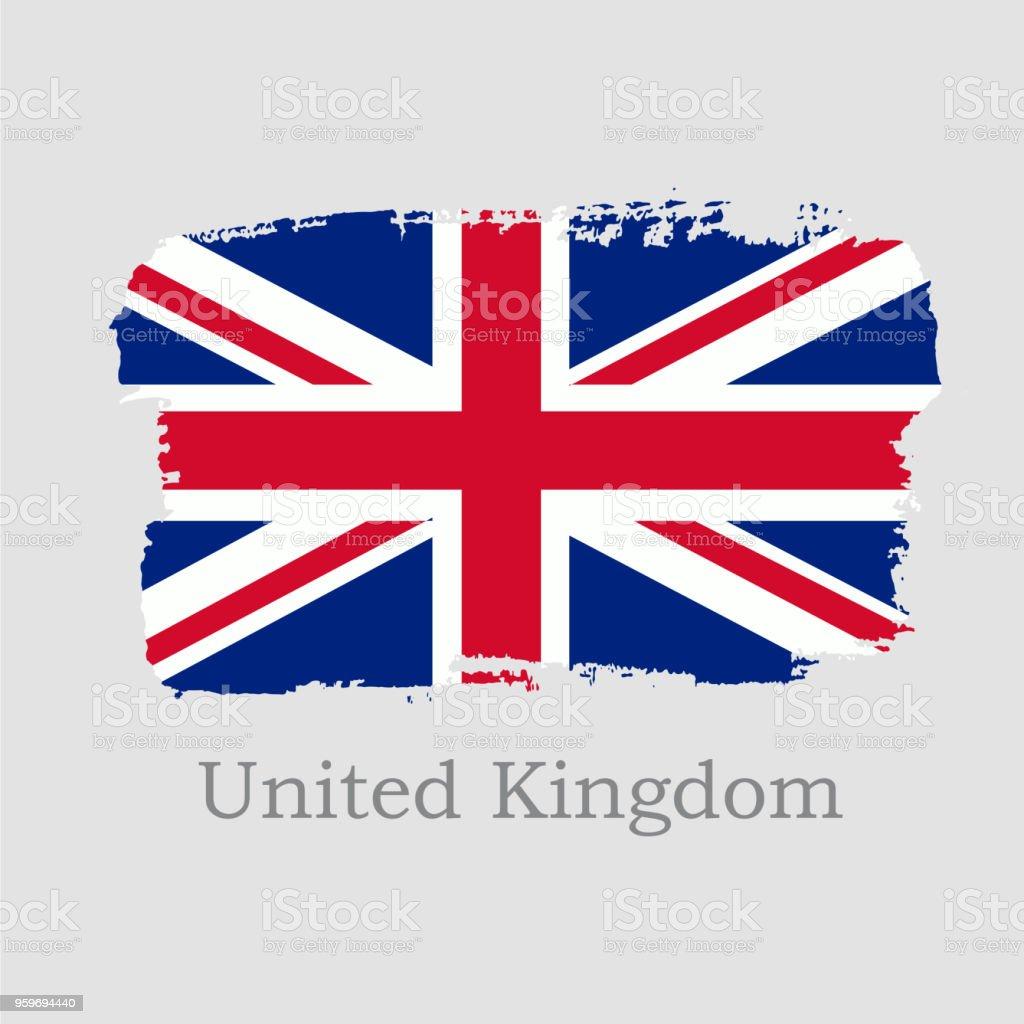Ilustración De Ilustración De Vector Mano Dibujar Bandera De Uk