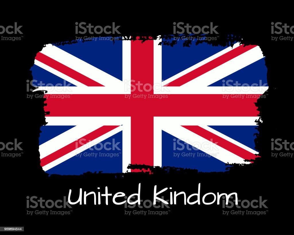 Ilustración De Ilustración De Vector Mano Dibujar Bandera De Reino