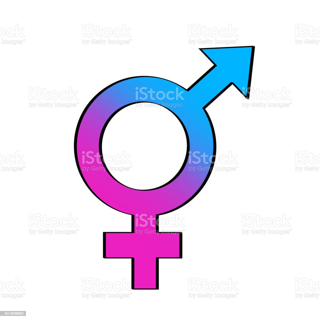 Vektorillustration Hand Gezeichnet Doodle Mit Transgender Oder ...