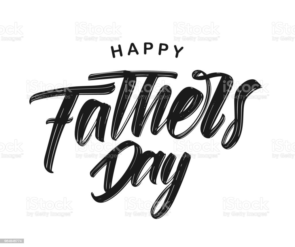 Vector illustration: Hand drawn type lettering composition of Happy Father's Day on white background royalty-free vector illustration hand drawn type lettering composition of happy fathers day on white background stock vector art & more images of art