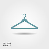 Vector illustration hanger for clothes.