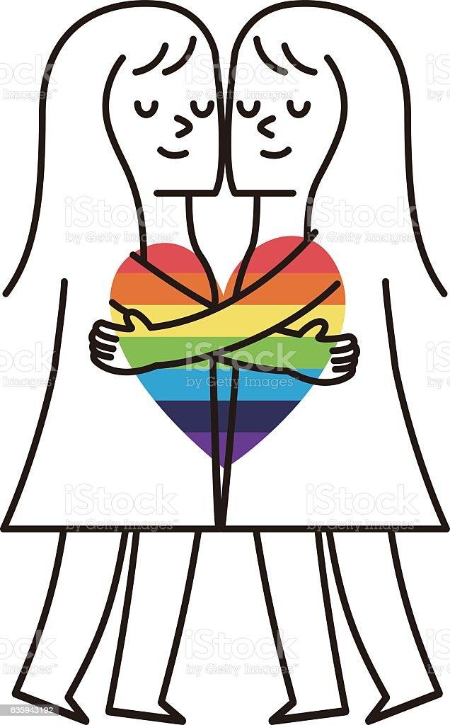 Vector illustration - Happy Couple. Valentine's Day - ilustración de arte vectorial
