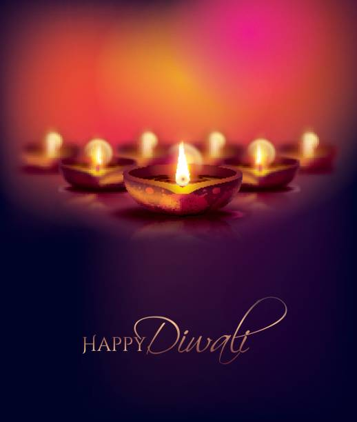 vector illustration happy diwali - diwali stock illustrations, clip art, cartoons, & icons