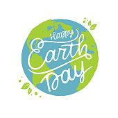 Vector illustration Happy Earth Day