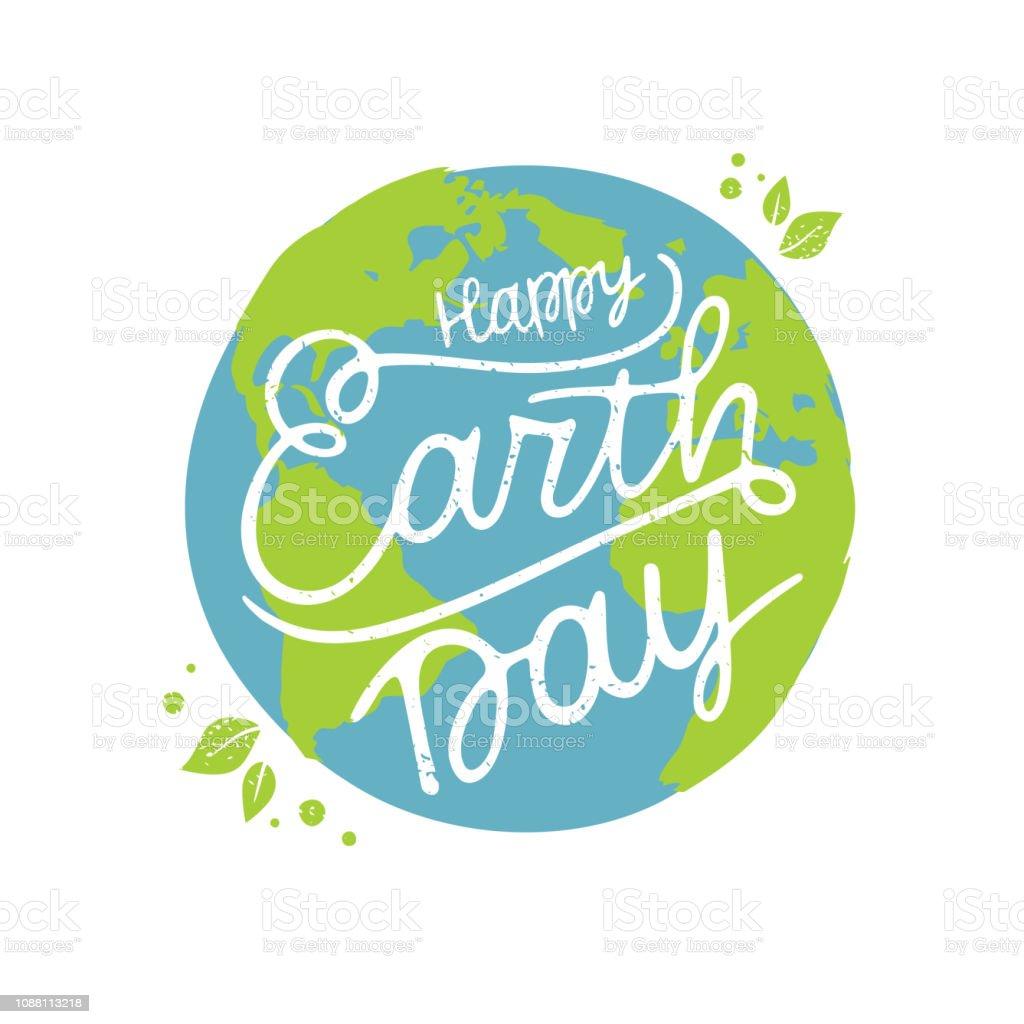 Ilustración de Vector Feliz día de la tierra - ilustración de arte vectorial