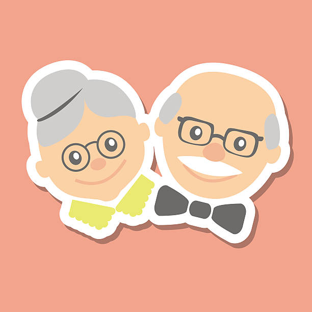 Vector illustration. Happy grandparents day. vector art illustration