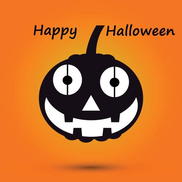 Vektor-Illustration Happy Halloween-Design-Hintergrund mit Halloween-Kürbis – Vektorgrafik