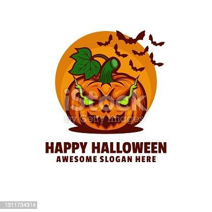 istock Vector Illustration Happy Halloween Mascot Cartoon Style. 1311734314