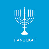 Vector illustration. Happy Hanukkah typography vector design for greeting cards and poster design template celebration.