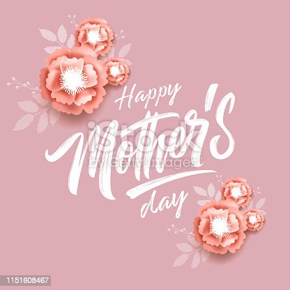 istock Vector illustration. Happy Mother's Day 1151608467