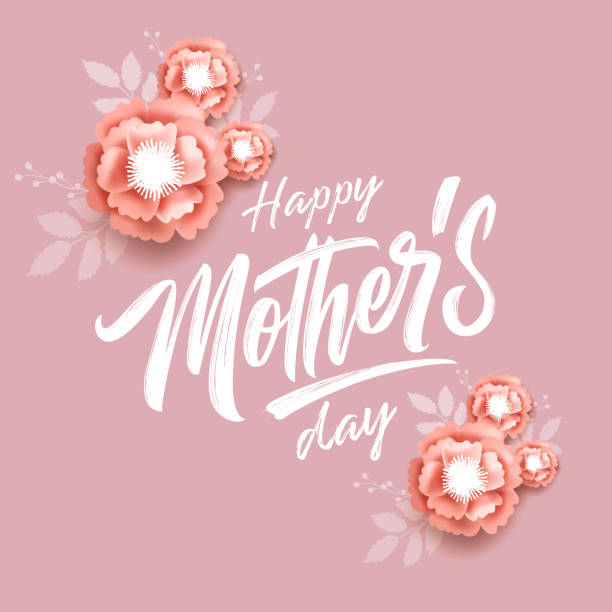 vector illustration. happy mother's day - mothers day stock illustrations