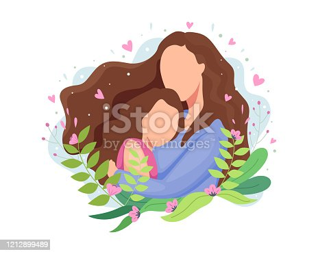 istock Vector illustration Happy mothers day 1212899489