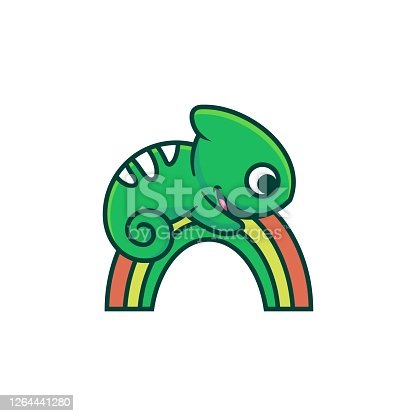 istock Vector Illustration Happy Play Simple Mascot Style. 1264441280