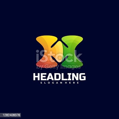 istock Vector Illustration Heading Gradient Colorful Style. 1282408376