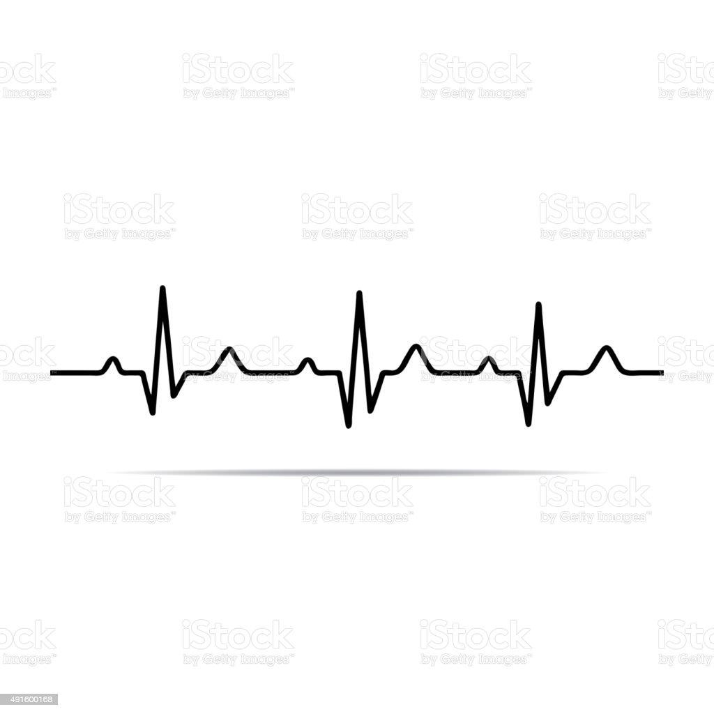 vector illustration heart rhythm ekg stock vector art more images rh istockphoto com ecg vector definition ecg vector map