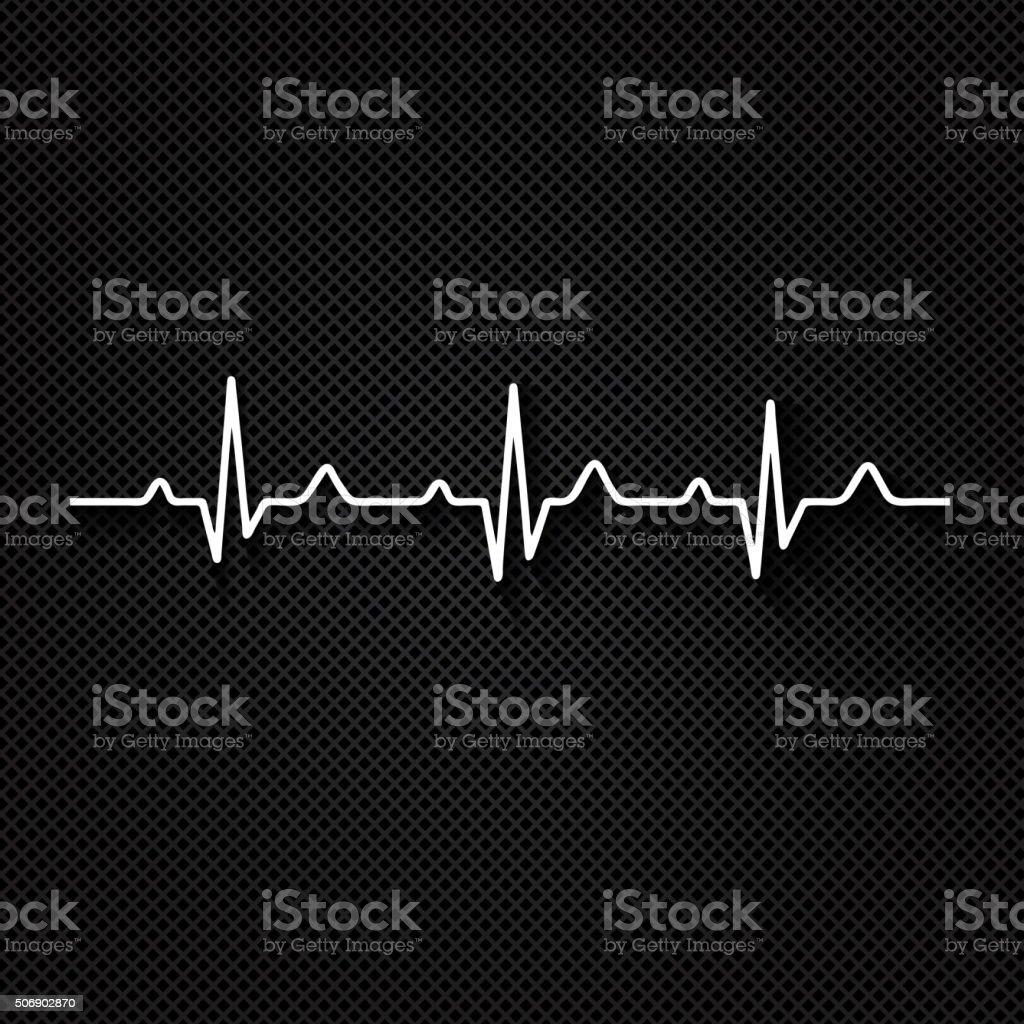 Vector Illustration heart rhythm ekg . vector art illustration