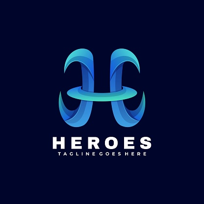 Vector Illustration Heroes Gradient Colorful Style.