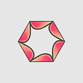 Vector Illustration Hexagon Gradient Colorful Style.