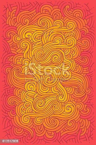 istock Vector illustration hippie background i 612512928