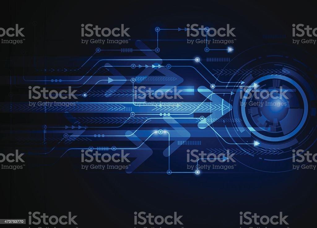 Vector illustration Abstract futuristic circuit board, hi-tech...