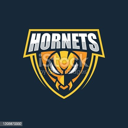 Vector Illustration Hornets E Sports Style.