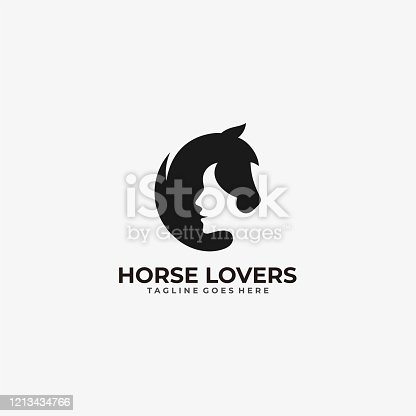 istock Vector Illustration Horse Lovers Dual Meaning Style. 1213434766