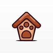 istock Vector Illustration House Pets Simple Cartoon Style. 1248895415