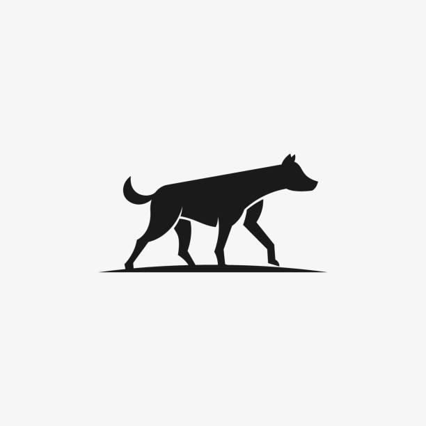 Vector Illustration Hyena Gross Black Color. Vector Illustration Hyena Gross Black Color. carnivorous stock illustrations