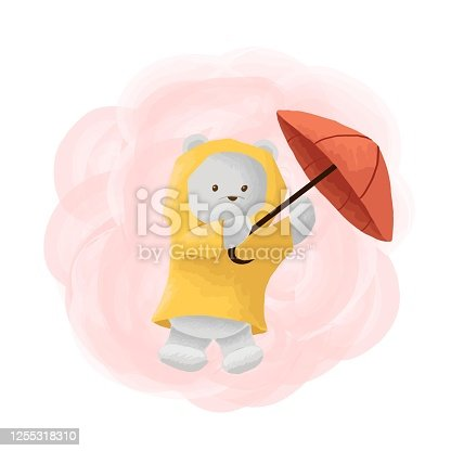 istock Vector Illustration Ice Bear Mascot Cartoon Style. 1255318310