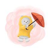 Vector Illustration Ice Bear Mascot Cartoon Style.