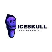 istock Vector Illustration Ice Skull Gradient Colorful Style. 1273422842