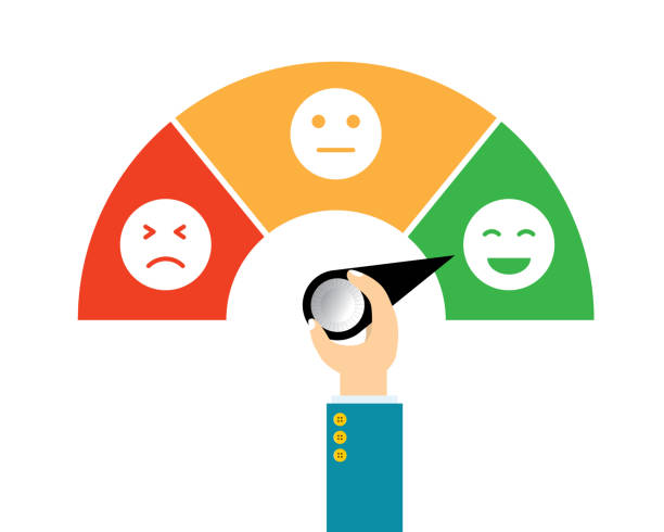 vector illustration icon emoticon flat design. concept feedback service, customer experience scale rating. - anger stock illustrations