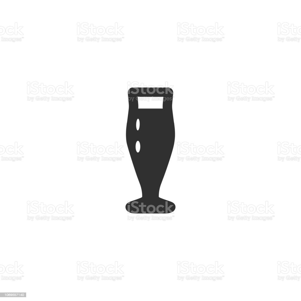 Vector illustration icon of high classic beer or coctail mug vector art illustration
