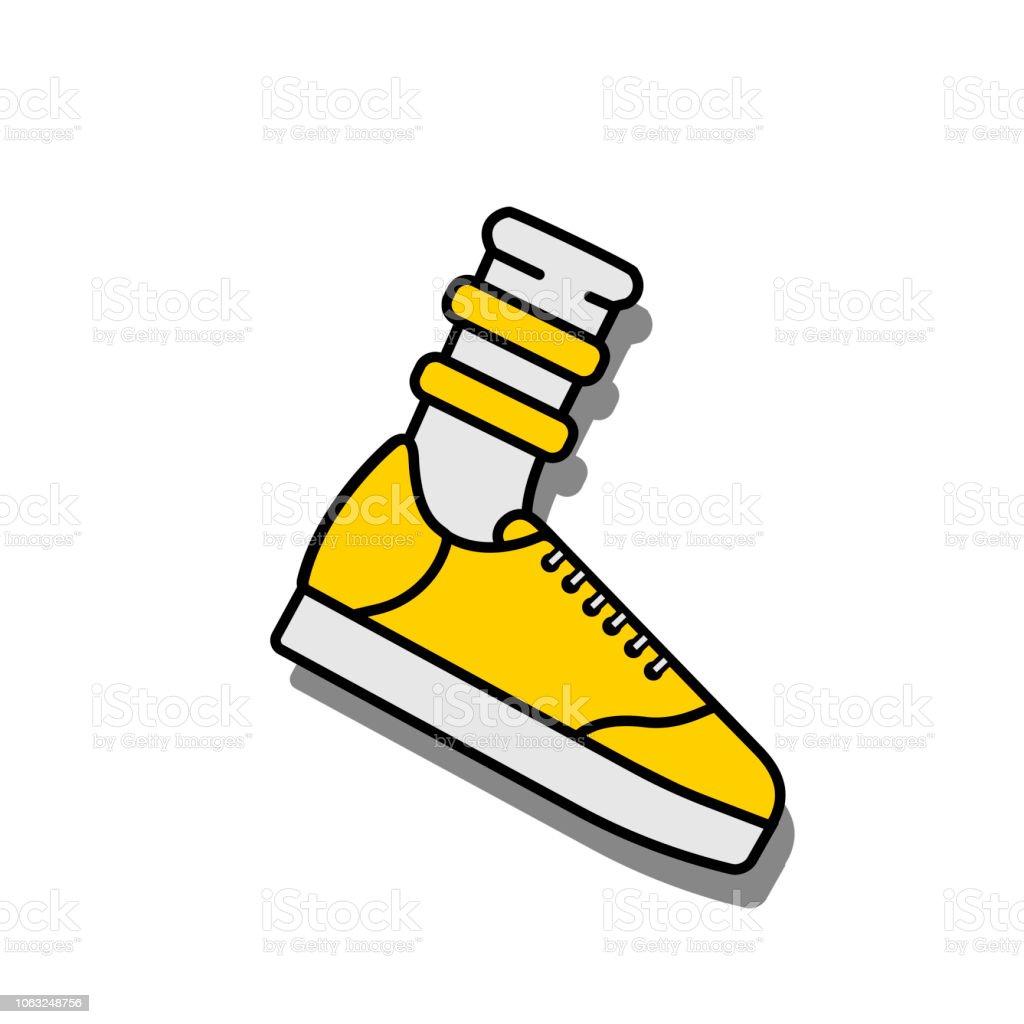 Sport Schuhe Vektorillustrationicon Der Und Socke Stock DH9WE2I